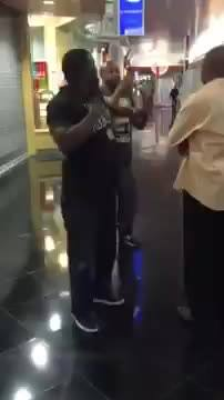 Whos dad is this? Dance battle goes wrong. lol